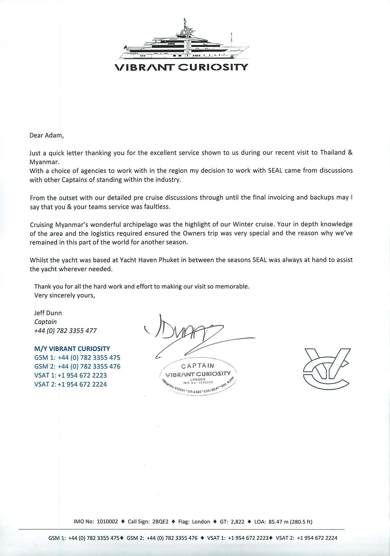Thailand Yacht Agents - Phuket   Seal Superyachts Agents