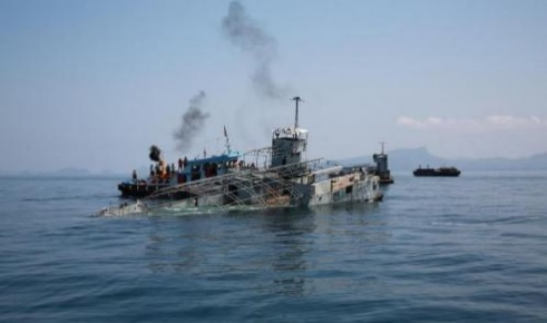 Thai Navy Sinks off Phuket