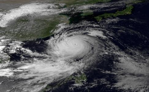 Tropical Cyclone Umagi satellite image Superyacht Agent yacht