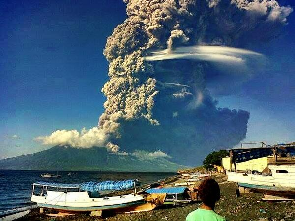 Mount Sangeang Api Indonesia Erupts