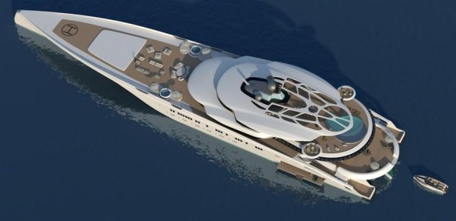Roland Friedberger 135m motor yacht ASSINA concept