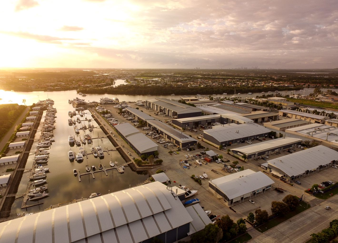 Seal Superyachts Australia Gold Coast City Marina-aerial