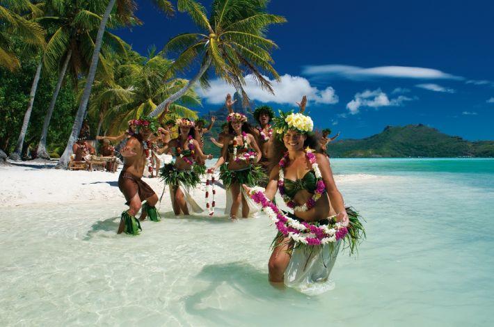 Polynesian Dancers in Tahiti