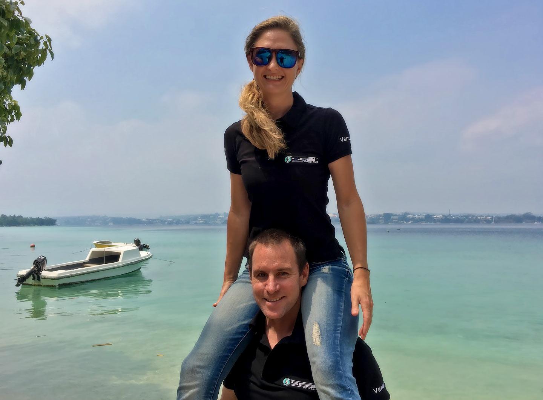 Justin and Claire Jenkin of Seal Superyachts Vanuatu Team.