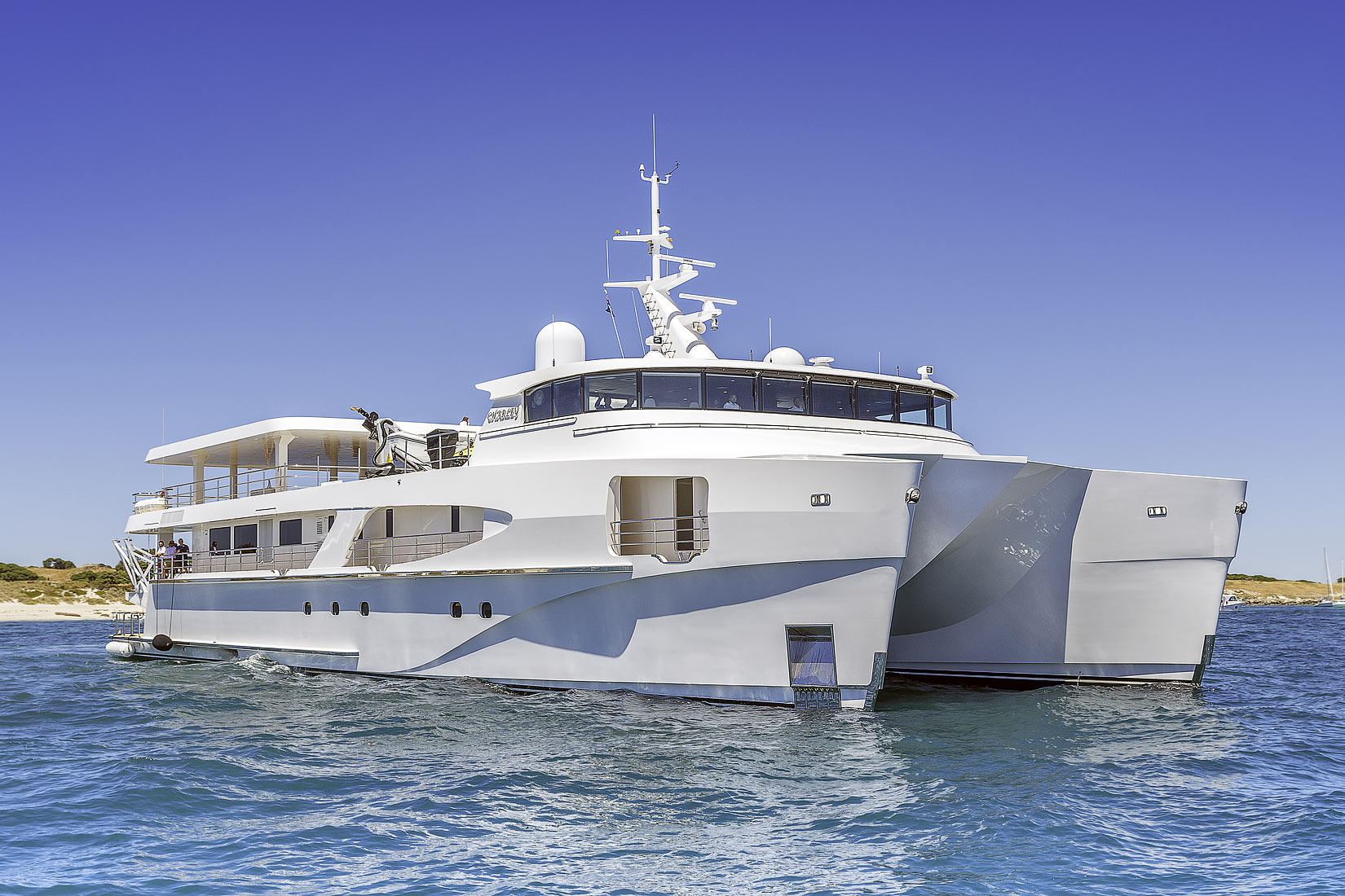 The Superyacht, 'Charley' has been delivered.