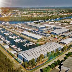 Aerial Photo of Gold Coast City Marina and Shipyard. Seal Superyachts Australia's joint facility with GCCM announces new berths.