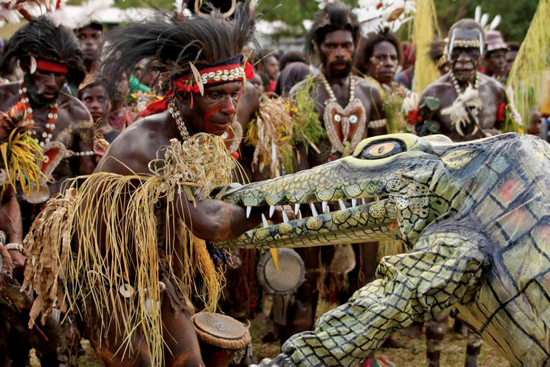 Crocodile men of Papua New Guinea.