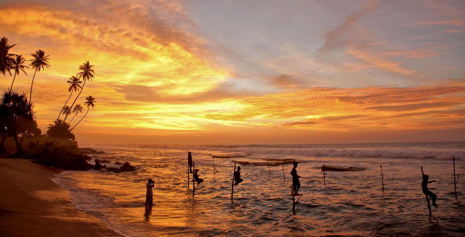 Fishing at sunset via Seal Superyachts Sri Lanka.
