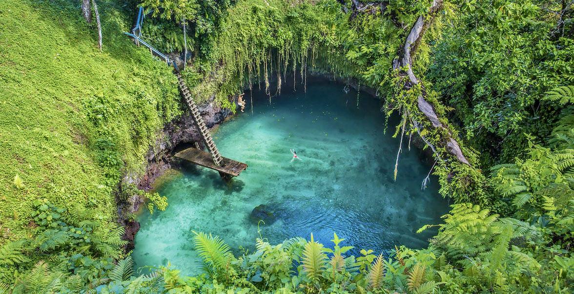 Swiming hole, Fiji via Seal Superyachts.