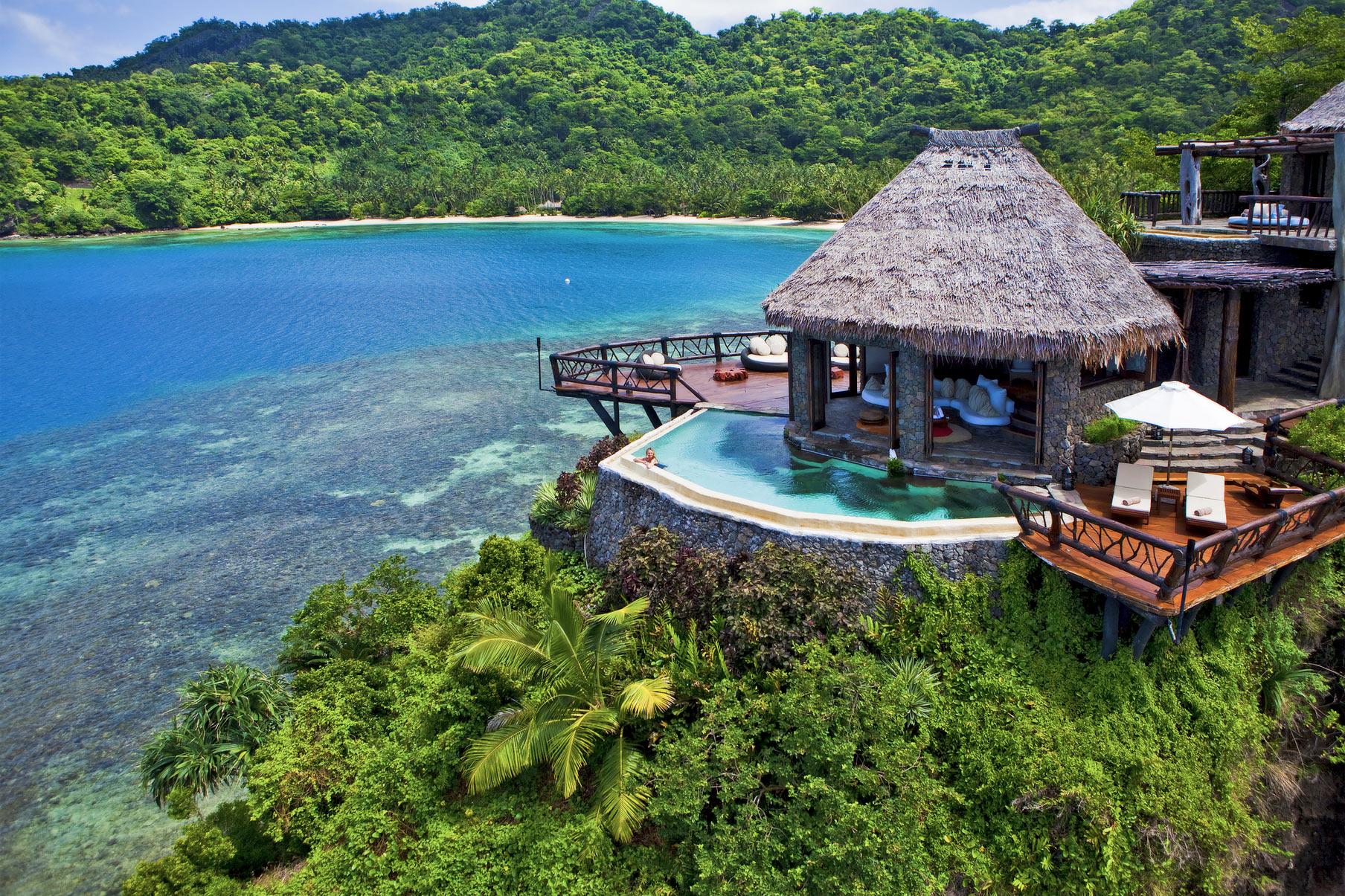 Laucala Island Resort, Fiji via Seal Superyachts.