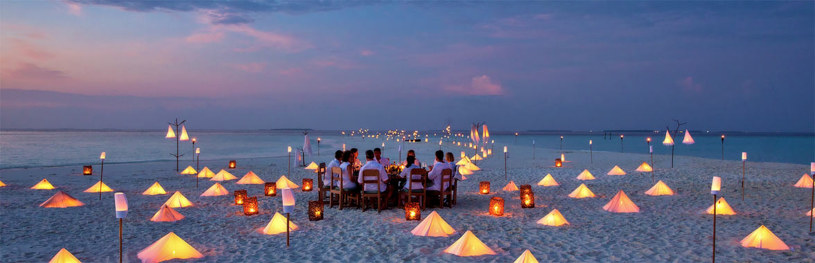 Dining in the Maldives