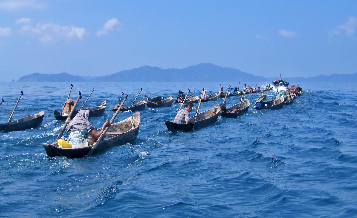 Moken people of Myanmar.