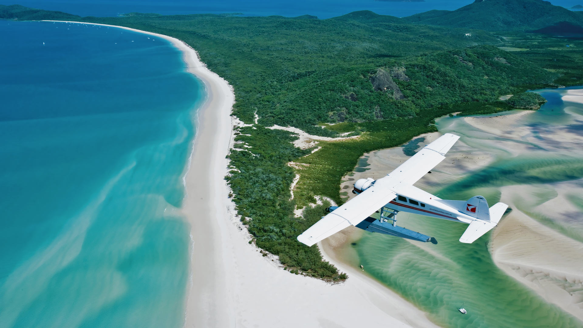 Aerial view of the Whitsundays.