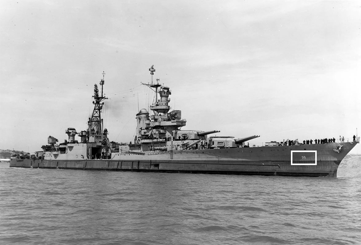 USS Indianapolis from World War II.