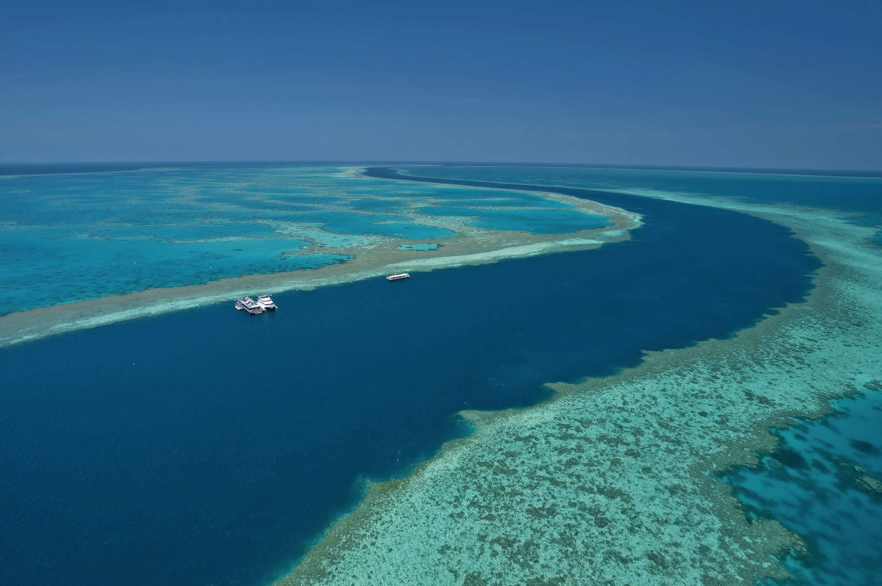 The Great Barrier Reef with Superyacht.