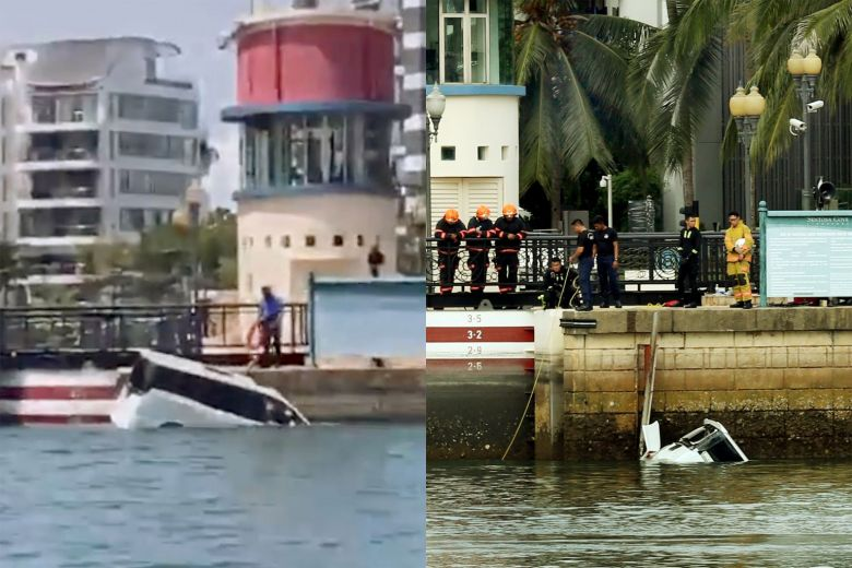 Superyacht Captain Rescues Drowning Man from Sinking Car at Sentosa Cove