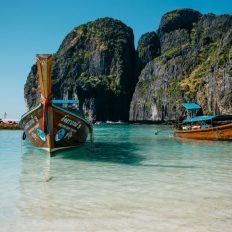Boat in Koh Phi Phi, Thailand.
