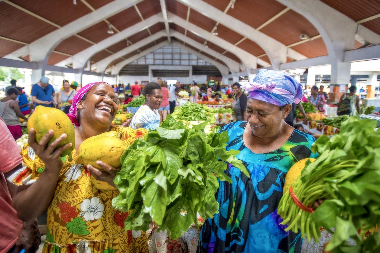 Kirkland, Vanuatu Food market.,