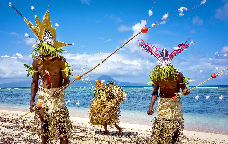 Vanuatu cultural tribal dance festival via superyacht.
